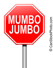 Mumbo jumbo concept. - Illustration depicting a roadsign...