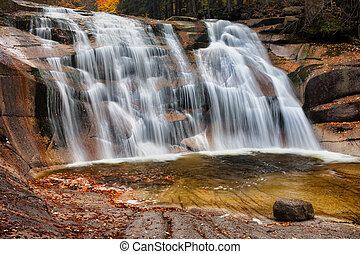 Mumlava Waterfall in Autumn