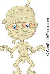 mummia, cartone animato