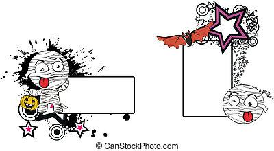 mummia, copyspace4, halloween, cartone animato
