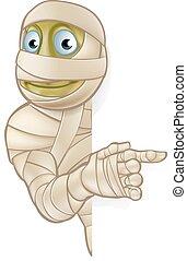 mummia, halloween, cartone animato