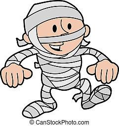 mummie, illustratie