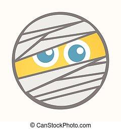 Mummy - Cartoon Smiley Vector Face