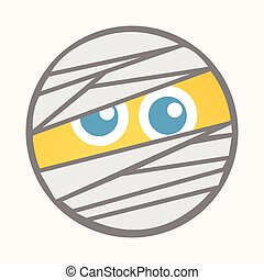 Mummy - Cartoon Smiley Vector Face