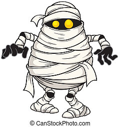 Mummy - Vector illustration of Cartoon mummy
