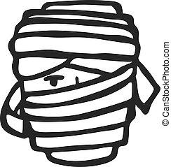 Mummy face doodle