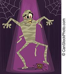 Mummy halloween character vector illustration. More...