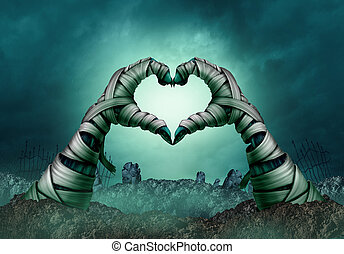 Mummy Hand Heart Shape