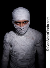 Mummy in the halloween concept