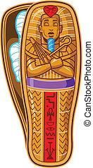 Mummy Sarcophagus - Ancient Egyptian Pharaoh's Sarcophagus...
