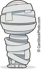 Mummy, Vector clip art illustration