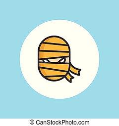 Mummy vector icon sign symbol