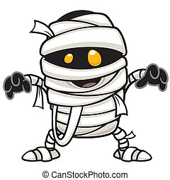 Vector illustration of mummy