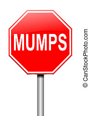 Mumps concept. - Illustration depicting a sign with a mumps...