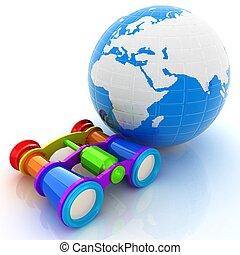 mundialmente, busca, conceito, com, terra