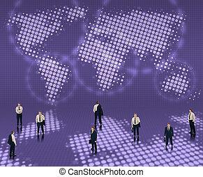 mundialmente, conceito, negócio
