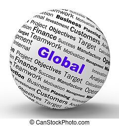 mundialmente, definição, comunicações, global, significado, ...