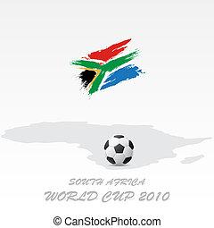mundo, áfrica, sur, taza