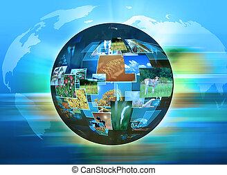 mundo, abstratos, tecnologia