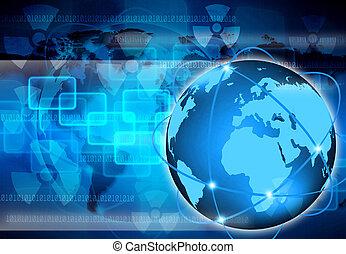 mundo, abstratos, tecnologia, negócio