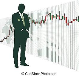 mundo, acción, 4, mercado, intercambio