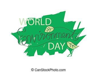 mundo, ambiente, día
