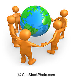 mundo, ao redor, pessoas