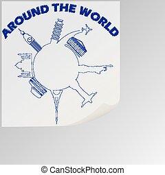 mundo, ao redor