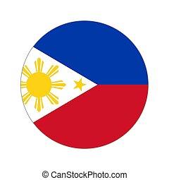 mundo, bandeira, circular