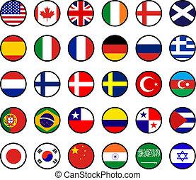 mundo, banderas