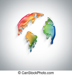 mundo, coloridos