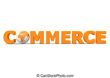 mundo, comercio, naranja