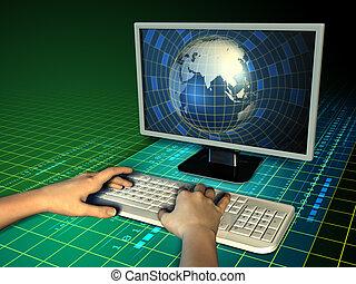 mundo, computador
