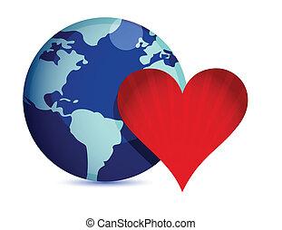 mundo, conceito, amor