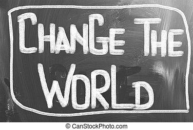 mundo, conceito, mudança