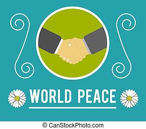 mundo, conceito, paz