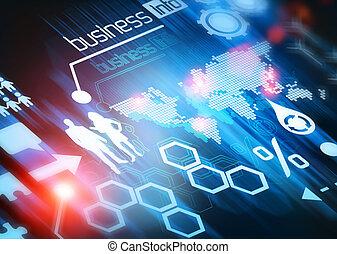 mundo, conectado, empresa / negocio