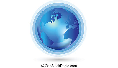mundo, conexão, global, logotipo