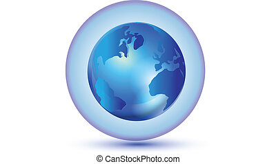 mundo, conexión global, logotipo