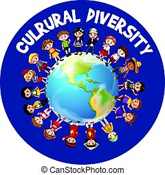 mundo, cultural, diversidade, ao redor