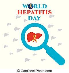 mundo, día, hepatitis, cartel