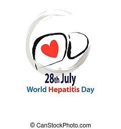 mundo, día, hepatitis