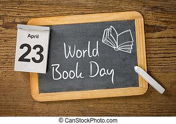 mundo, día, libro, abril, 23