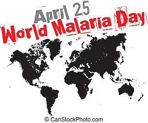 mundo, día, malaria