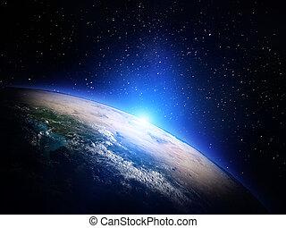 mundo, de, espacio