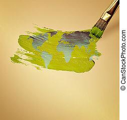 mundo, desenhar