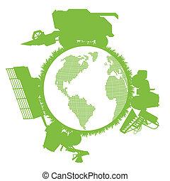 mundo, ecología, máquina segador de cosechadora