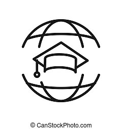 mundo, educação, ilustração, desenho
