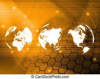 mundo, estilo, tecnologia, mapa