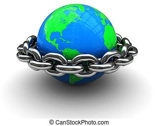 mundo, fechado